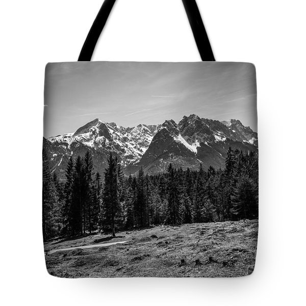 Alpspitze Till Zugspitze II Tote Bag by Hannes Cmarits