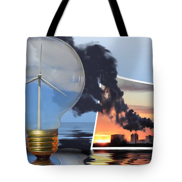 Alternative Energy Tote Bag by Shane Bechler