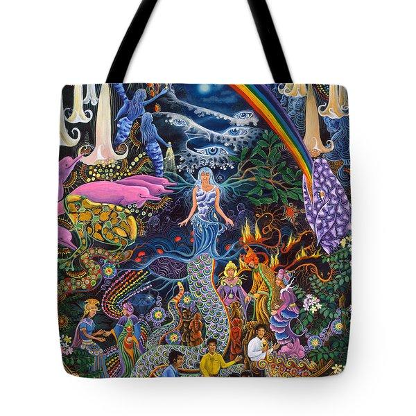 Alto Cielo Tote Bag by Pablo Amaringo