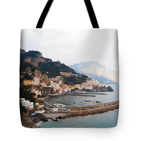 Amalfi Italy Tote Bag by Pat Cannon
