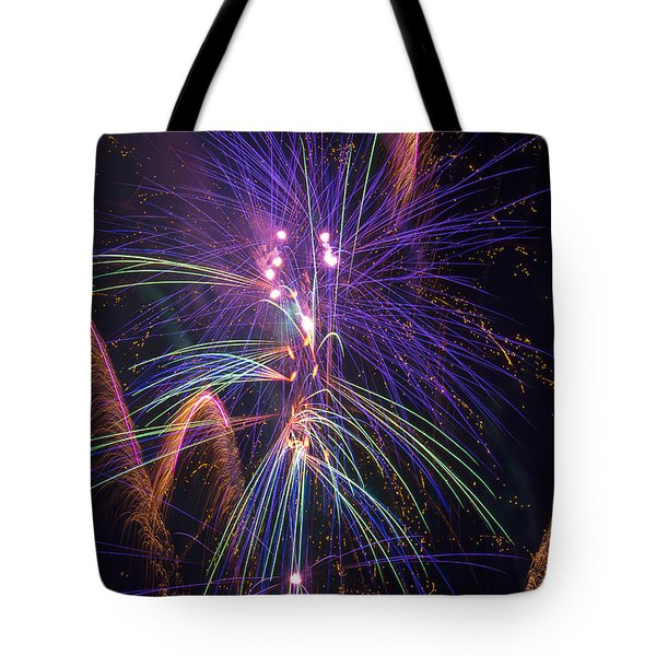 Amazing Beautiful Fireworks Tote Bag by Garry Gay