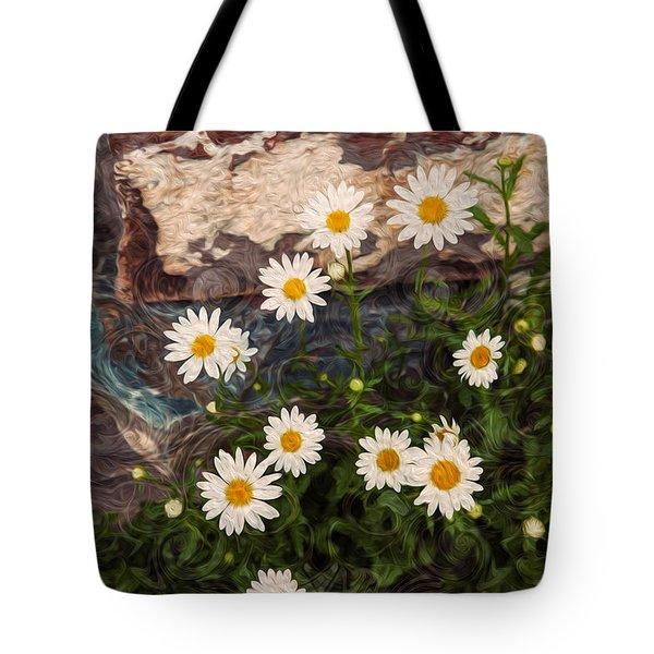 Amazing Daisies Tote Bag by Omaste Witkowski