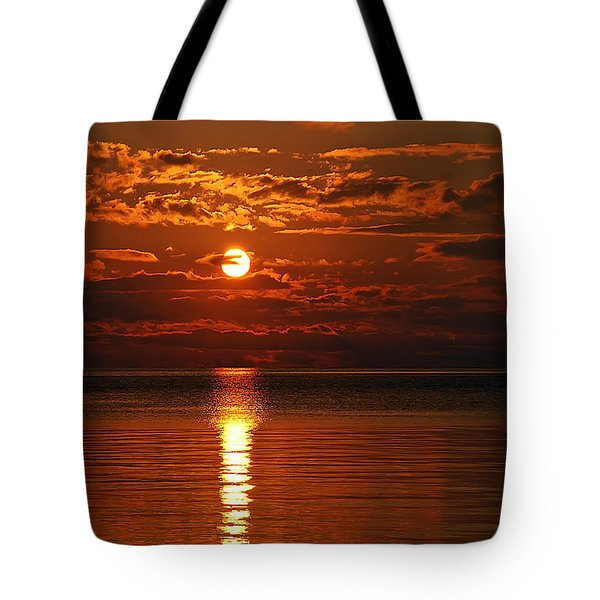 Amazing Sunset Tote Bag by Aimee L Maher Photography and Art