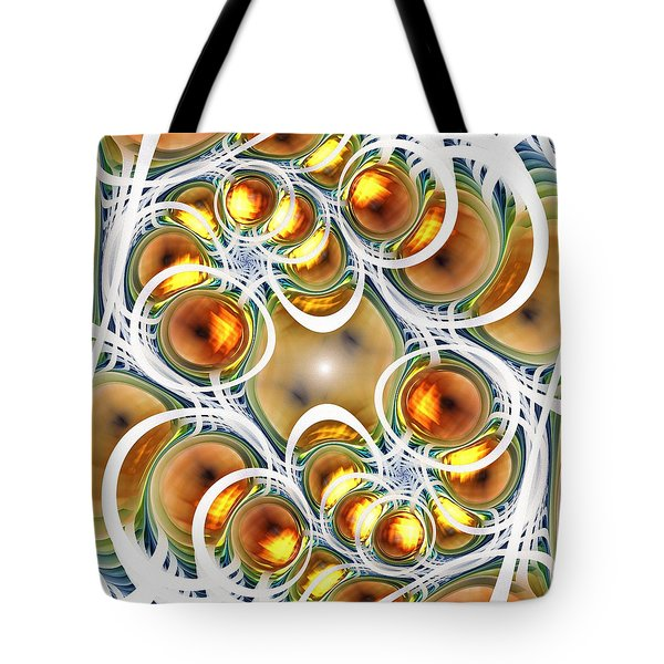 Amber Clusters Tote Bag by Anastasiya Malakhova