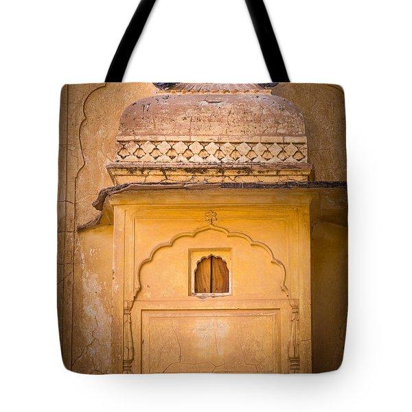Amber Fort Birdhouse Tote Bag by Inge Johnsson