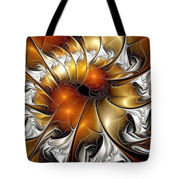 Amber Vortex Tote Bag by Anastasiya Malakhova