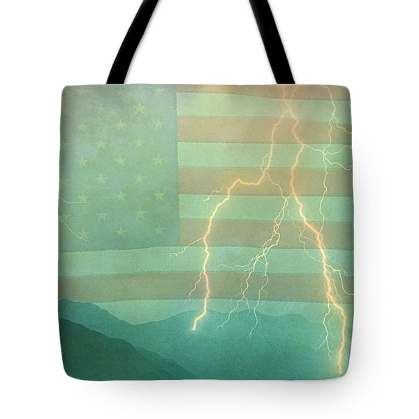 America Walk The Line  Tote Bag by James BO  Insogna