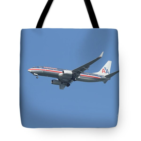 American Airlines Jet 7d21917 Tote Bag by Wingsdomain Art and Photography