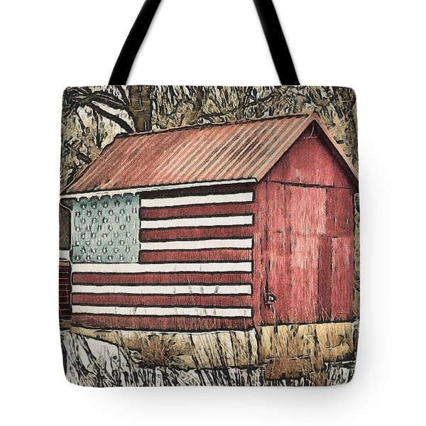 American Barn Tote Bag by Trish Tritz