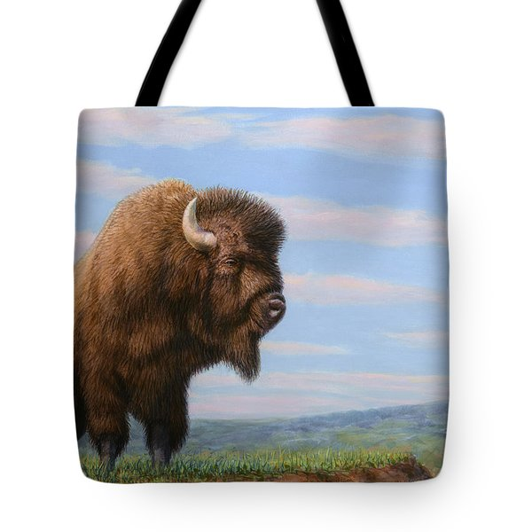 American Bison Tote Bag by James W Johnson