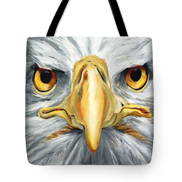 American Eagle - Bald Eagle By Betty Cummings Tote Bag by Sharon Cummings