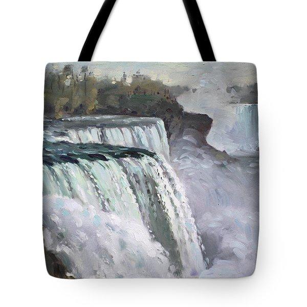 American Falls Niagara Tote Bag by Ylli Haruni
