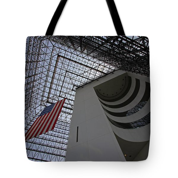 American Flag at the JFK Library Tote Bag by Juergen Roth