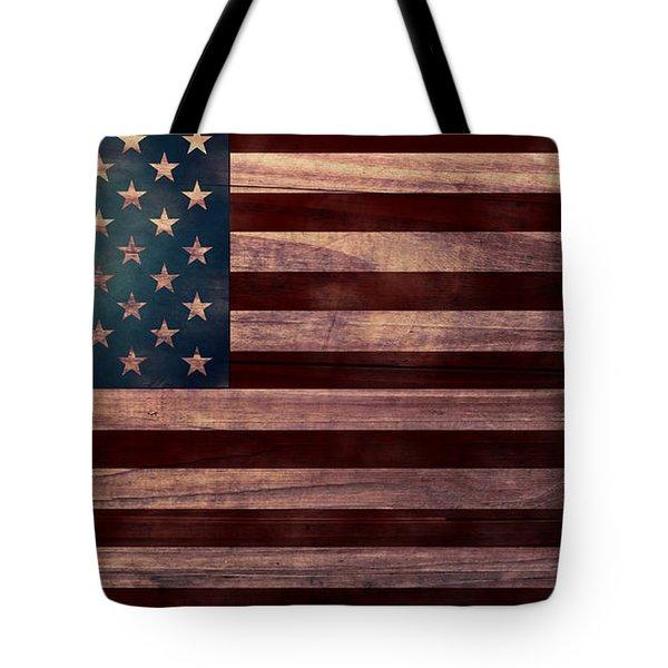 American Flag I Tote Bag by April Moen