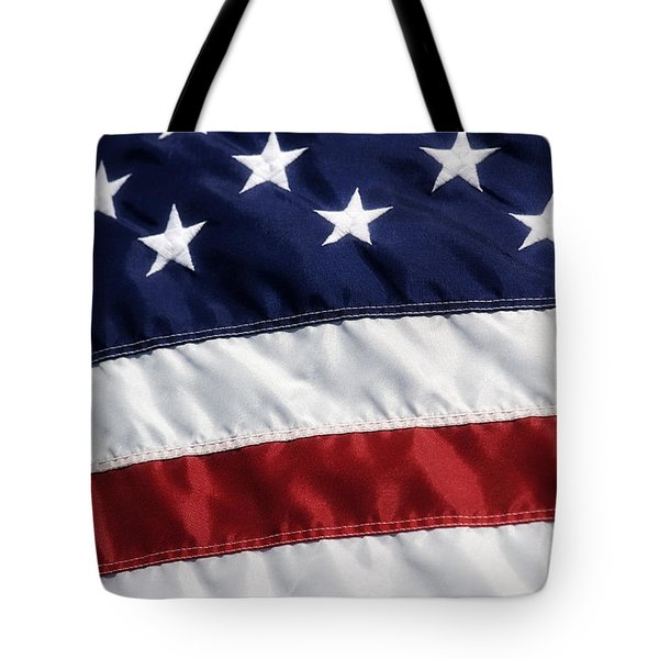 American Flag Tote Bag by Jill Lang