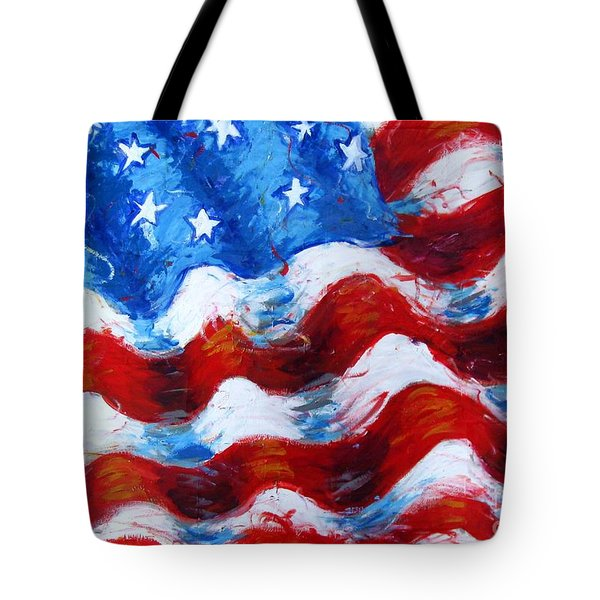 American Flag Tote Bag by Venus