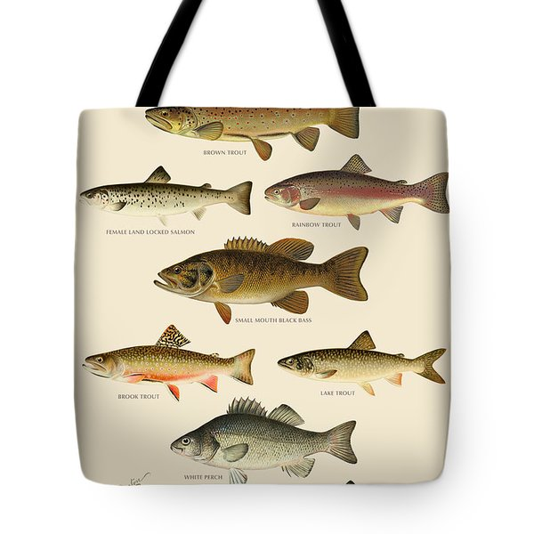 American Game Fish Tote Bag by Gary Grayson