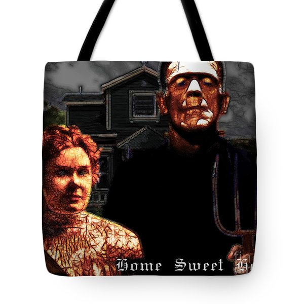 American Gothic Resurrection Home Sweet Home 20130715 Tote Bag by Wingsdomain Art and Photography