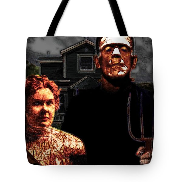American Gothic Resurrection - Version 2 Tote Bag by Wingsdomain Art and Photography