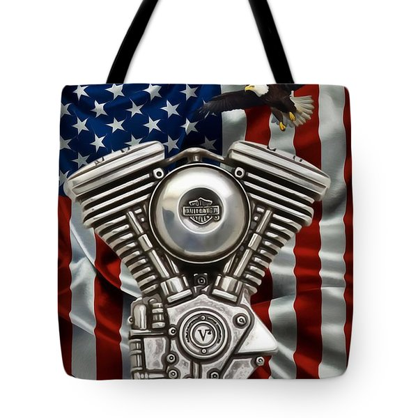 American Made 2 Tote Bag by Todd and candice Dailey