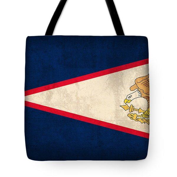 American Samoa Flag Vintage Distressed Finish Tote Bag by Design Turnpike