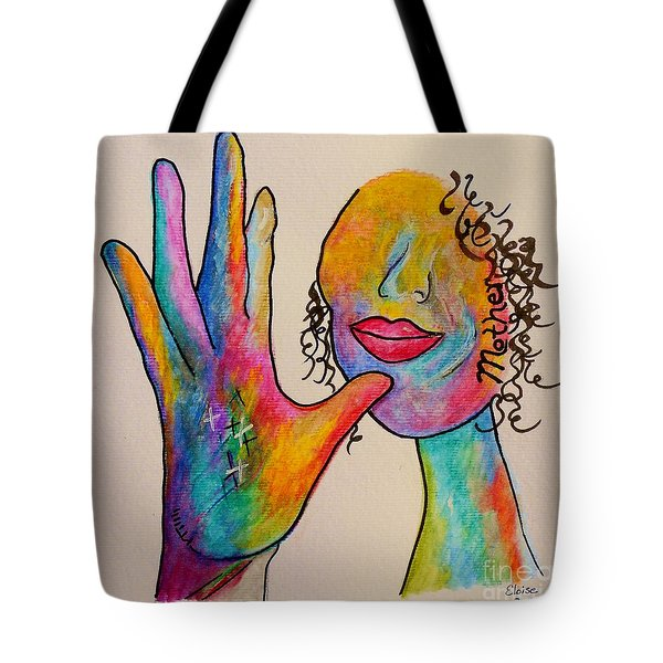 American Sign Language . . .  MOTHER Tote Bag by Eloise Schneider
