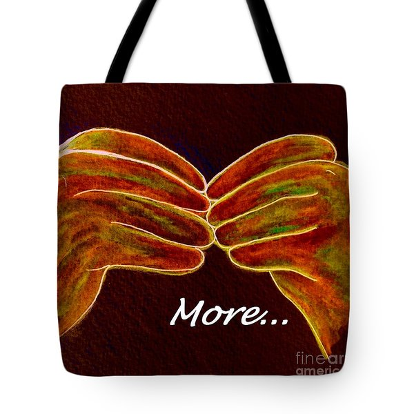 American Sign Language MORE Tote Bag by Eloise Schneider