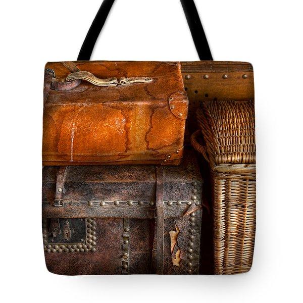Americana - Emotional Baggage  Tote Bag by Mike Savad