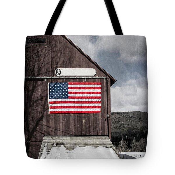 Americana Patriotic Barn Tote Bag by Edward Fielding