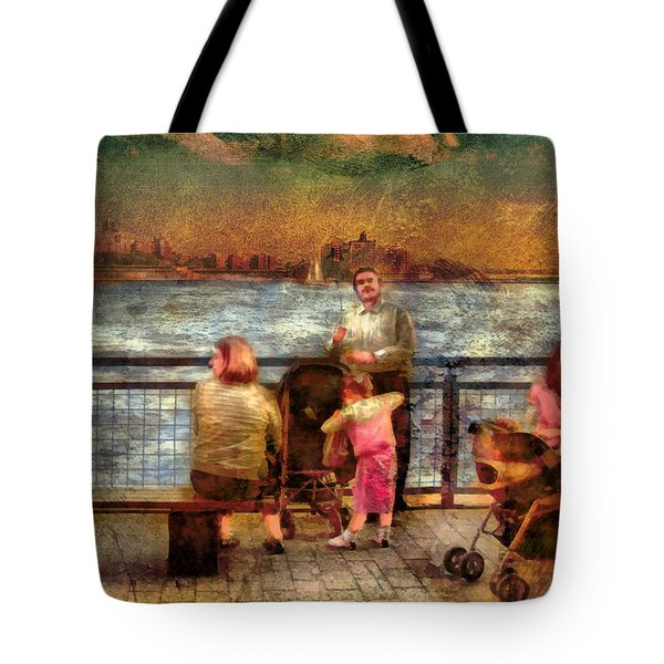 Americana - People - Jewish Families Tote Bag by Mike Savad