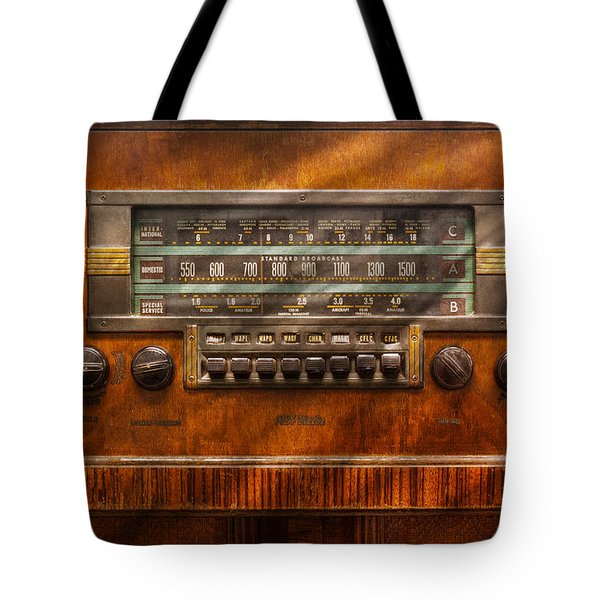 Americana - Radio - Remember What Radio Was Like Tote Bag by Mike Savad