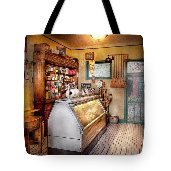 Americana - Store - At the local grocers Tote Bag by Mike Savad