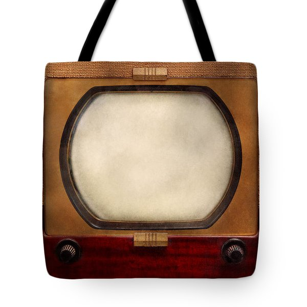Americana - Tv - The Boob Tube Tote Bag by Mike Savad