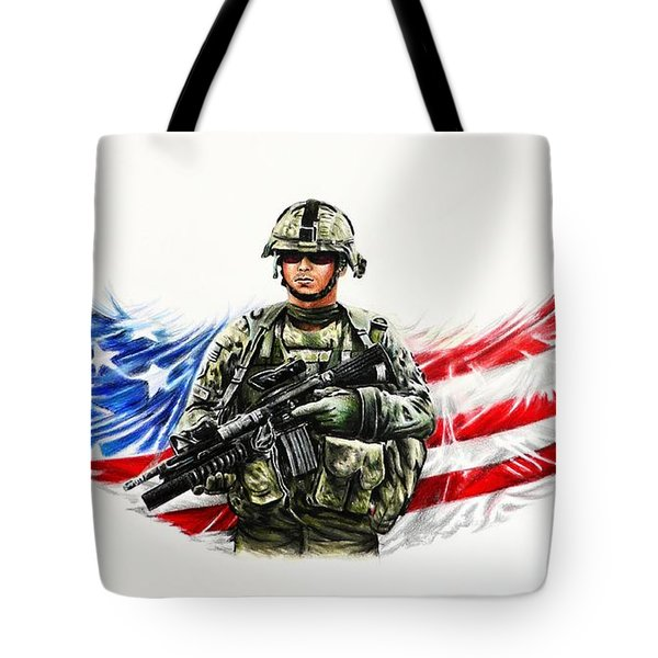 Americas Guardian Angel Tote Bag by Andrew Read