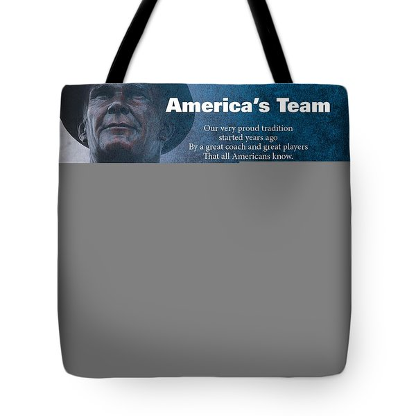 America's Team Poetry Art Tote Bag by Stanley Mathis