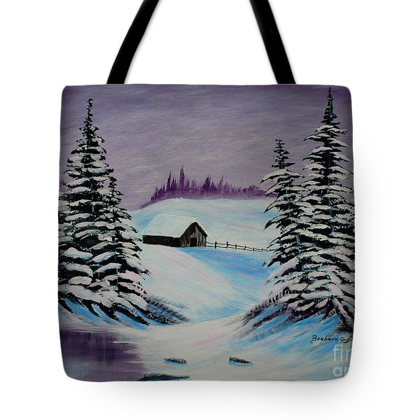 Amethyst Evening after Ross Tote Bag by Barbara Griffin