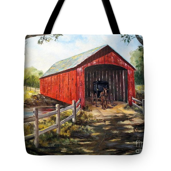 Amish Country Tote Bag by Lee Piper
