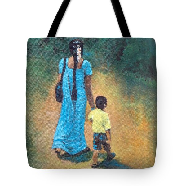 Amma's Grip Leads. Tote Bag by Usha Shantharam