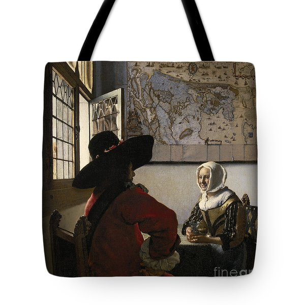 Amorous Couple Tote Bag by Vermeer