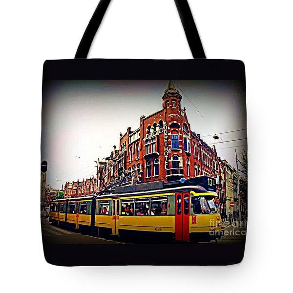 Amsterdam Transportation Tote Bag by John Malone