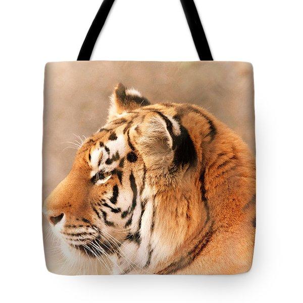 Amur Tiger Tote Bag by Karol  Livote