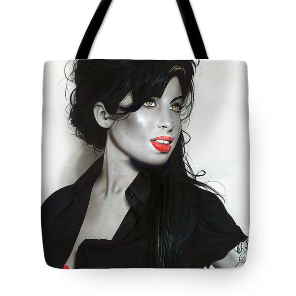 ' Amy Winehouse ' Tote Bag by Christian Chapman Art