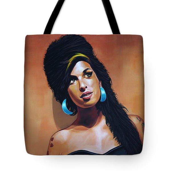 Amy Winehouse Tote Bag by Paul Meijering