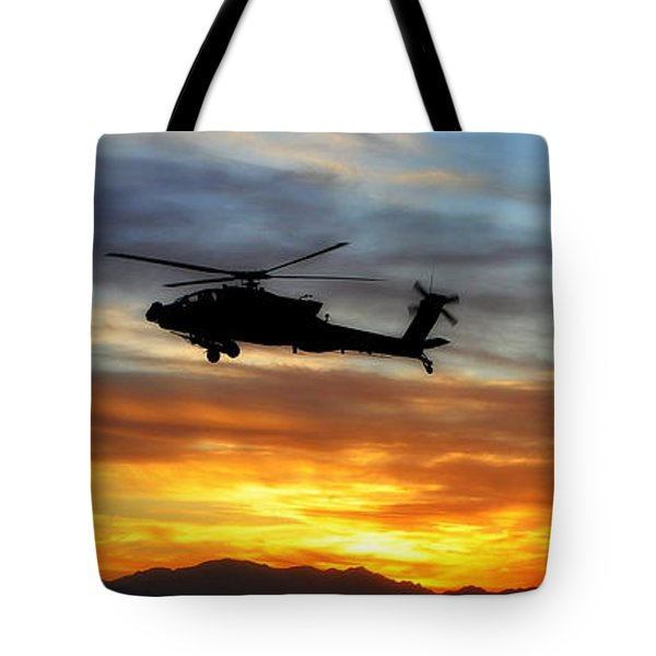 An Ah-64 Apache Tote Bag by Paul Fearn