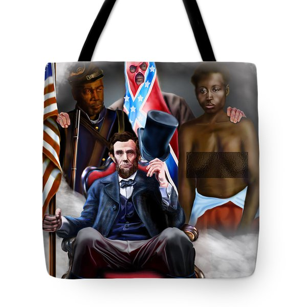 An American Family Portrait Tote Bag by Reggie Duffie