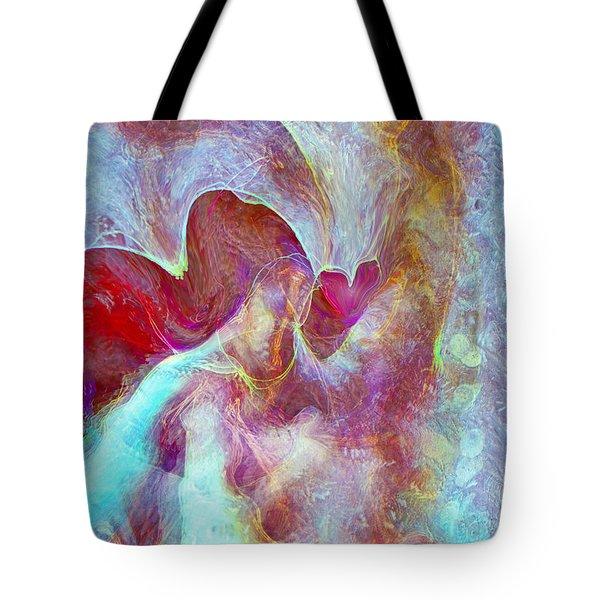 An Angels Love Tote Bag by Linda Sannuti