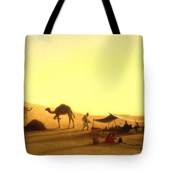 An Arab Encampment  Tote Bag by Charles Theodore Frere
