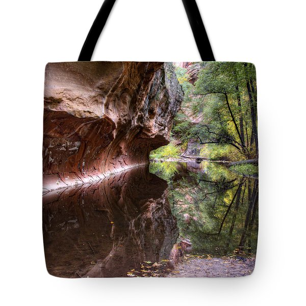 An Autumn Day In West Fork Tote Bag by Saija  Lehtonen