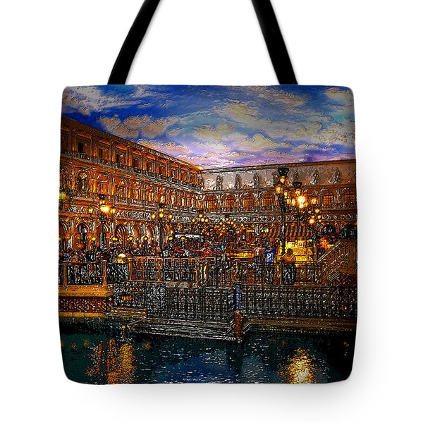 An Evening In Venice Tote Bag by David Lee Thompson