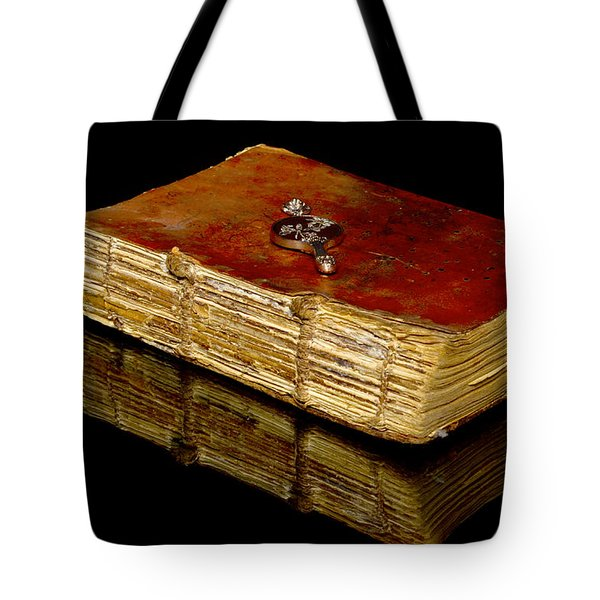 An Old Bible Tote Bag by Toppart Sweden